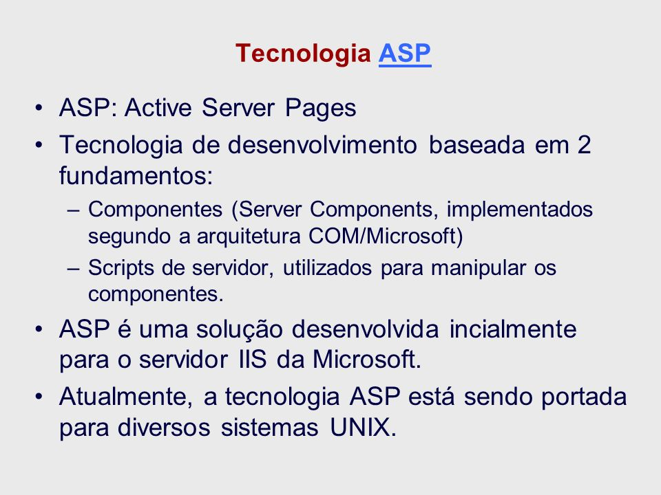 ASP: Active Server Pages