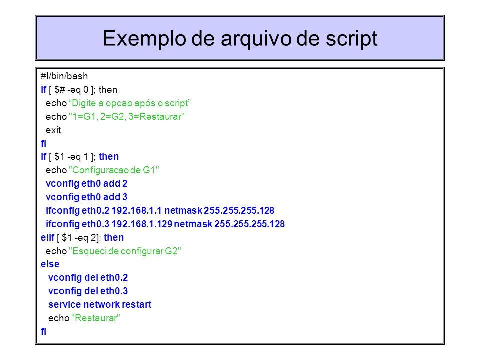 Exemplo de arquivo de script