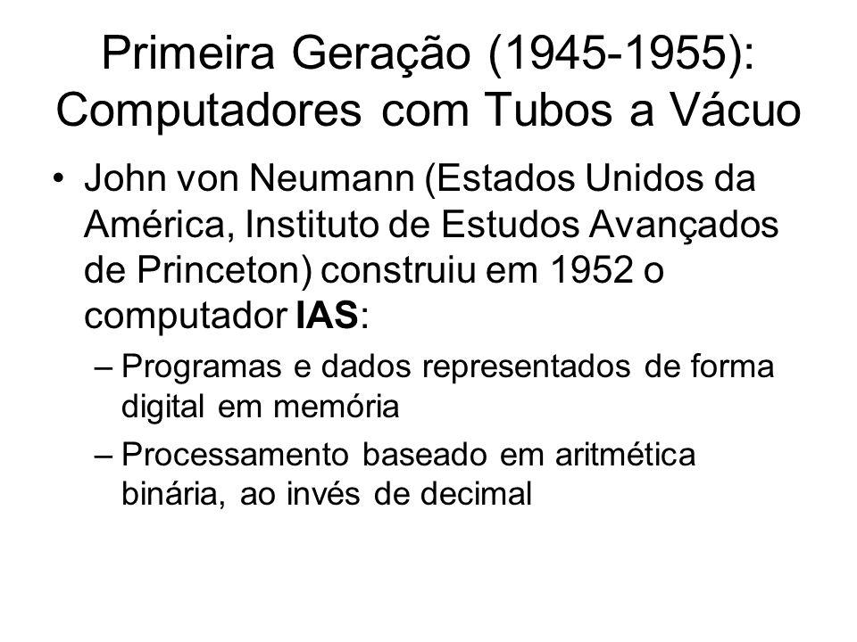 Primeira Geração (1945-1955): Computadores com Tubos a Vácuo