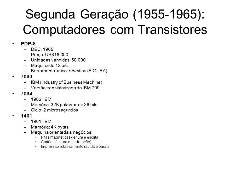 Segunda Geração (1955-1965): Computadores com Transistores