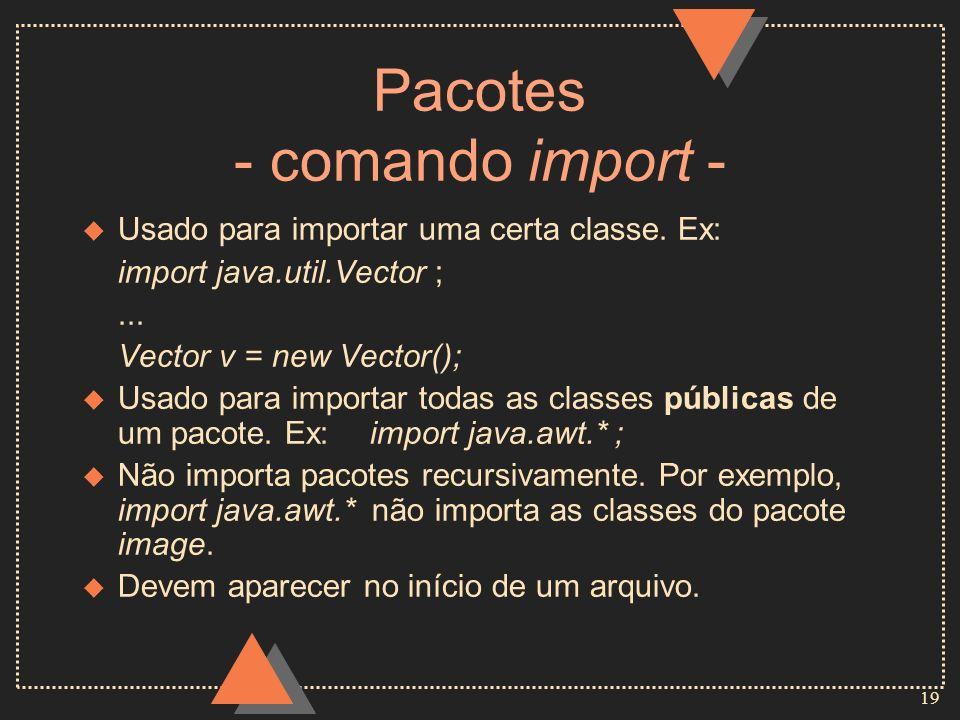 Pacotes - comando import -