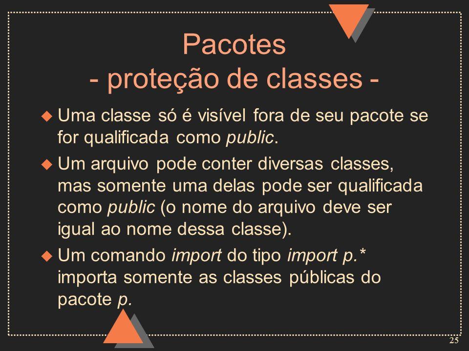 Pacotes - proteção de classes -