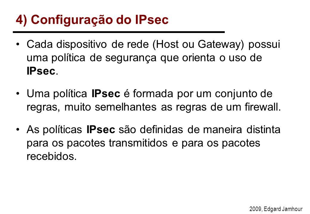 4) Configuração do IPsec