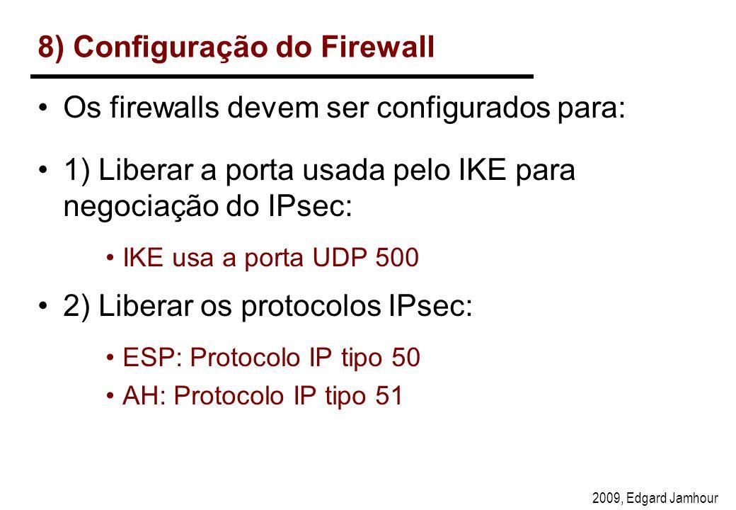 8) Configuração do Firewall