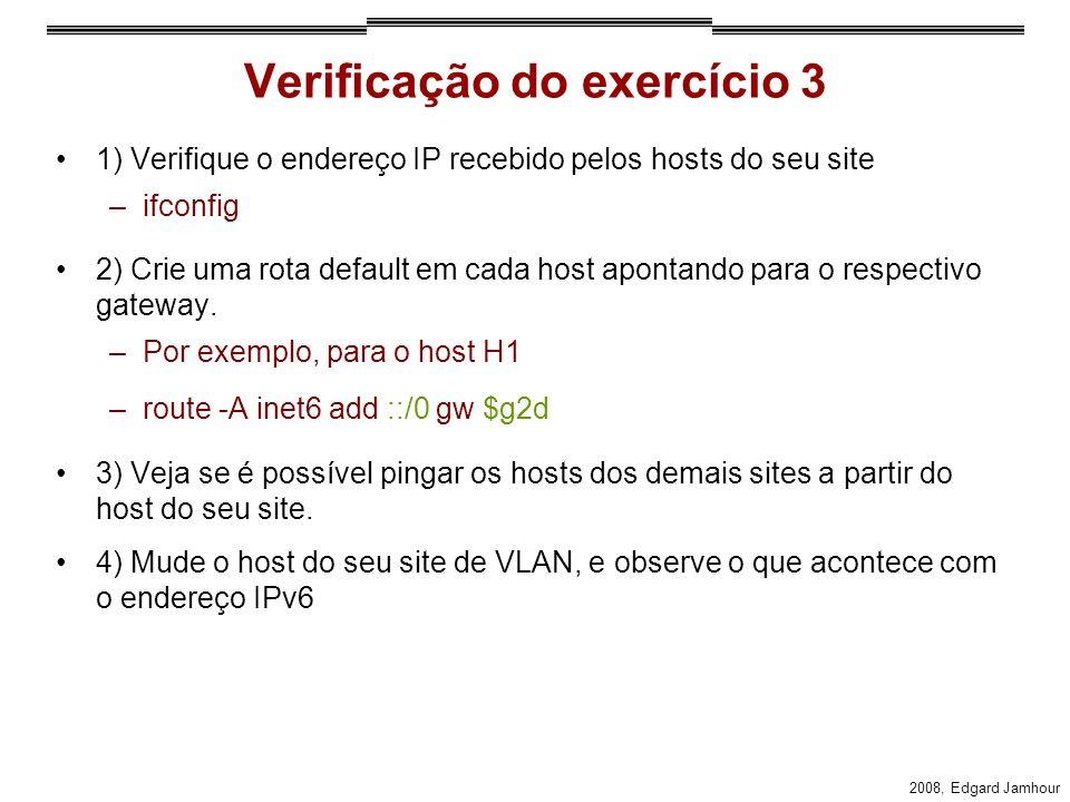Verificação do exercício 3