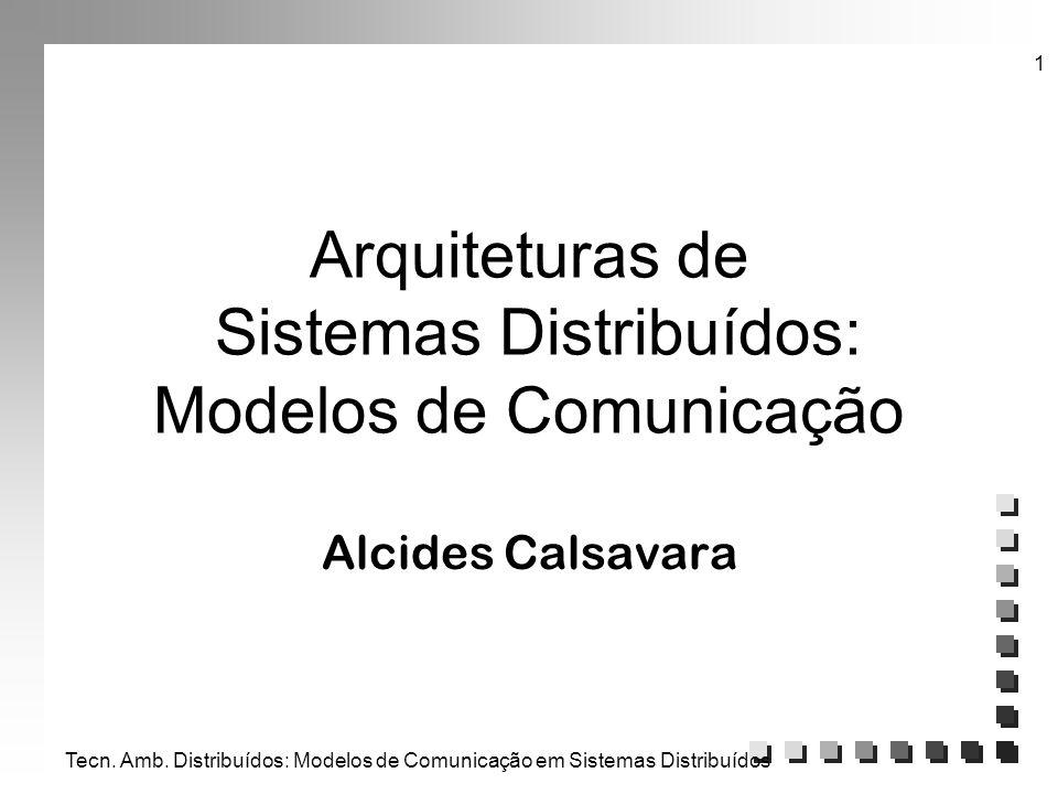 Arquiteturas de Sistemas Distribuídos: Modelos de Comunicação