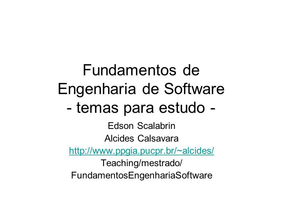 Fundamentos de Engenharia de Software - temas para estudo -