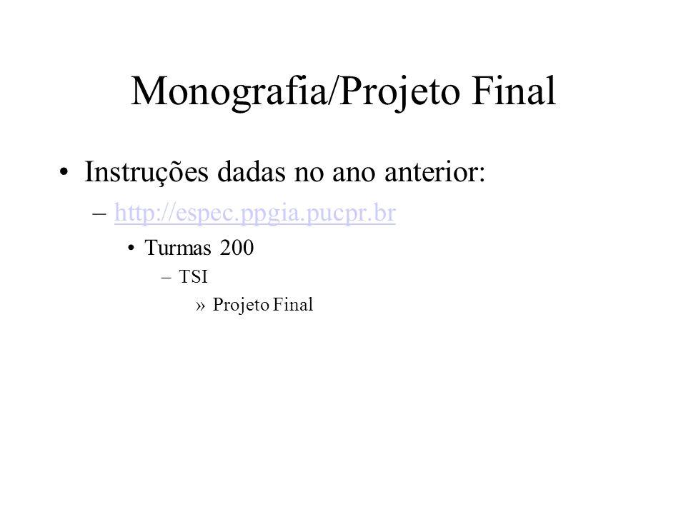 Monografia/Projeto Final