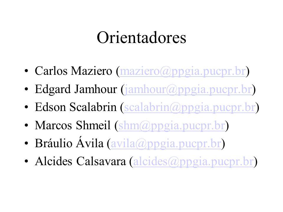 Orientadores Carlos Maziero (maziero@ppgia.pucpr.br)