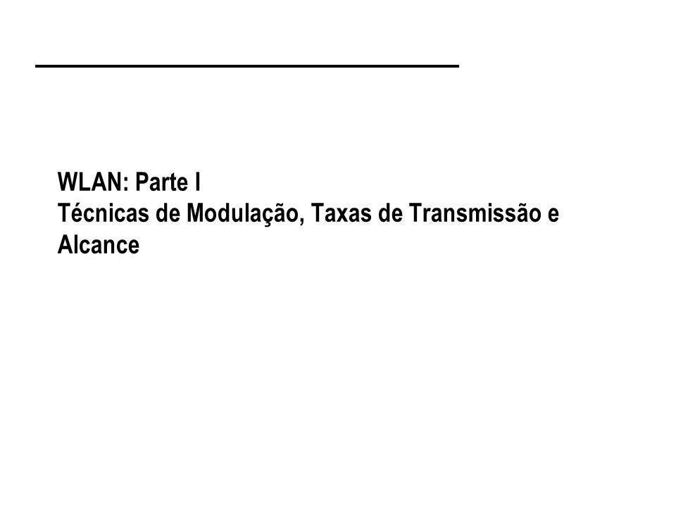 WLAN: Parte I Técnicas de Modulação, Taxas de Transmissão e Alcance