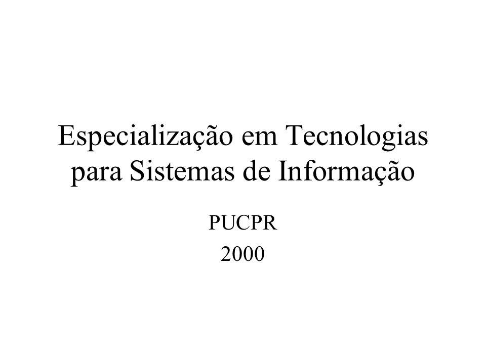 Especialização em Tecnologias para Sistemas de Informação