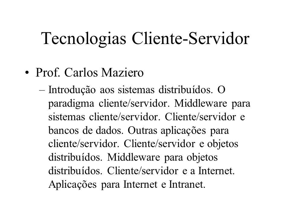 Tecnologias Cliente-Servidor