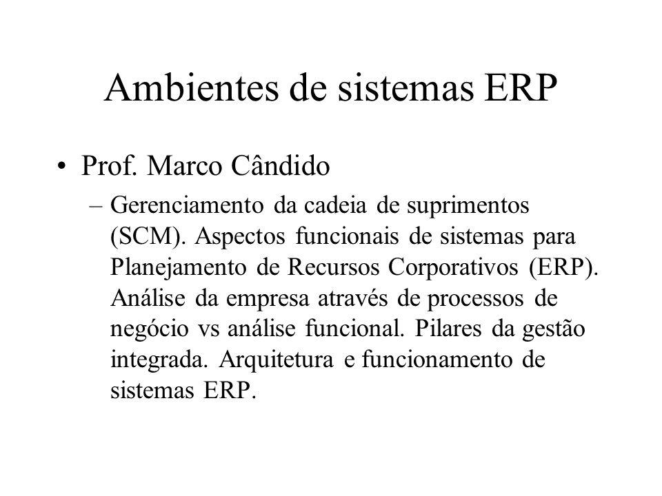 Ambientes de sistemas ERP