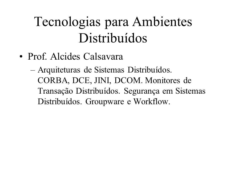 Tecnologias para Ambientes Distribuídos