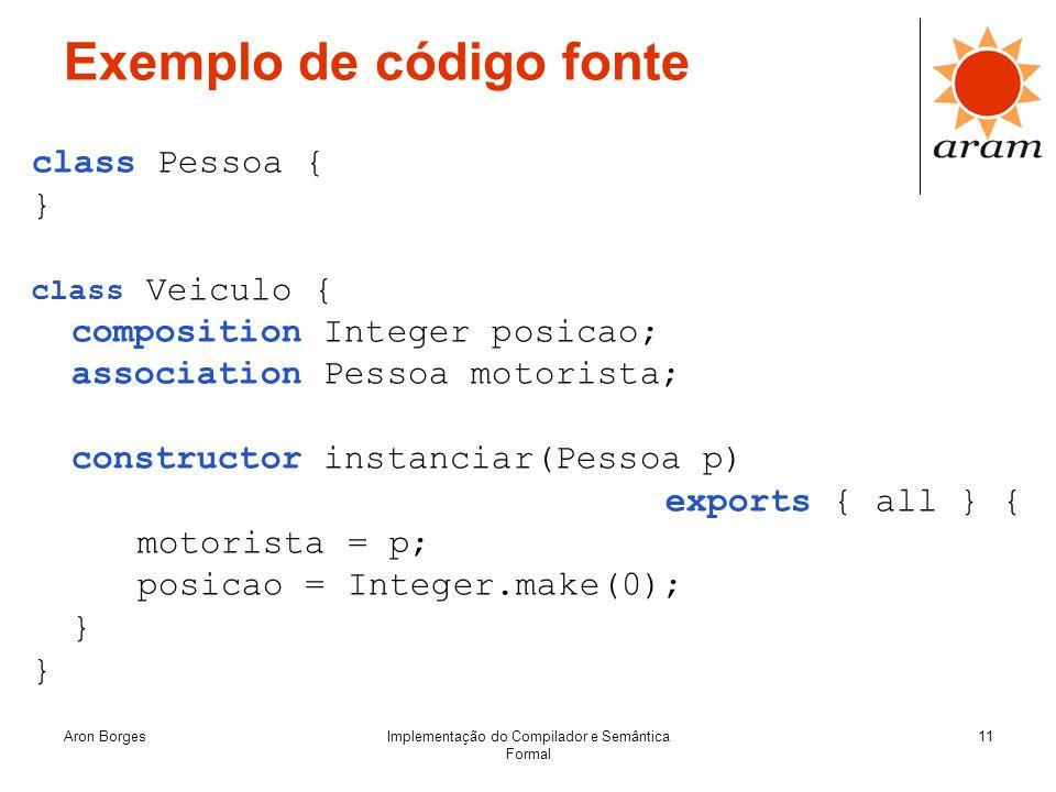 Exemplo de código fonte