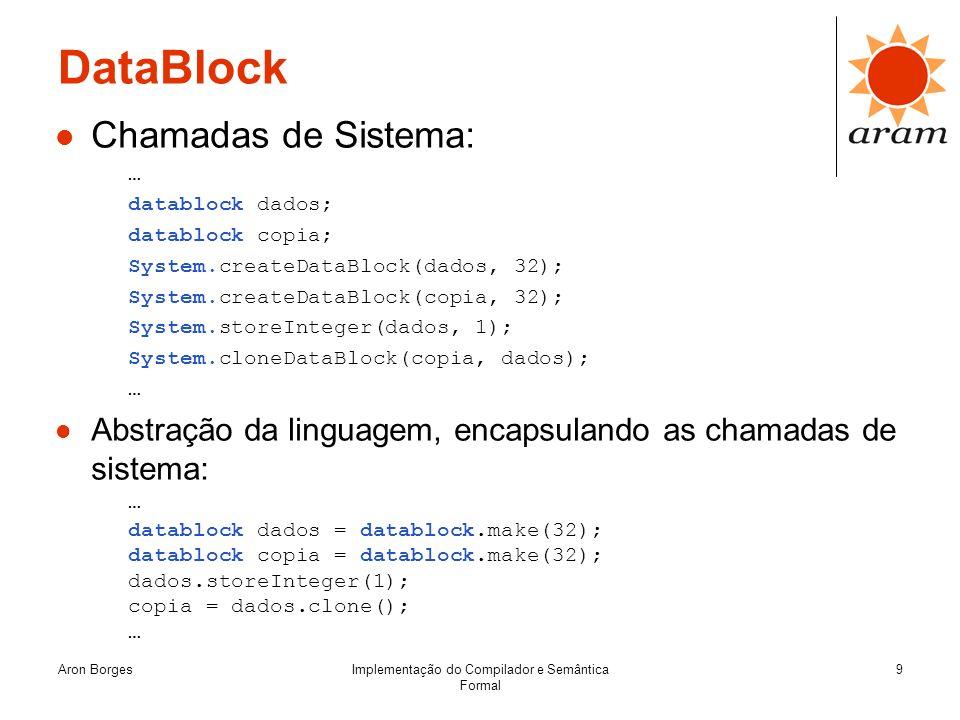 Implementação do Compilador e Semântica Formal