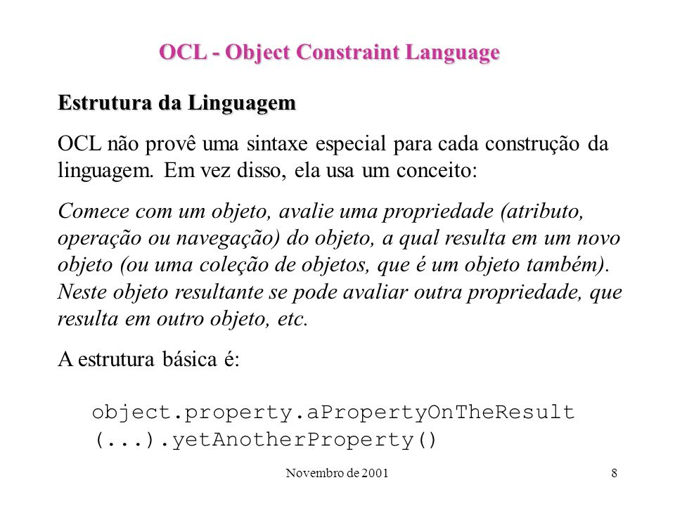OCL - Object Constraint Language