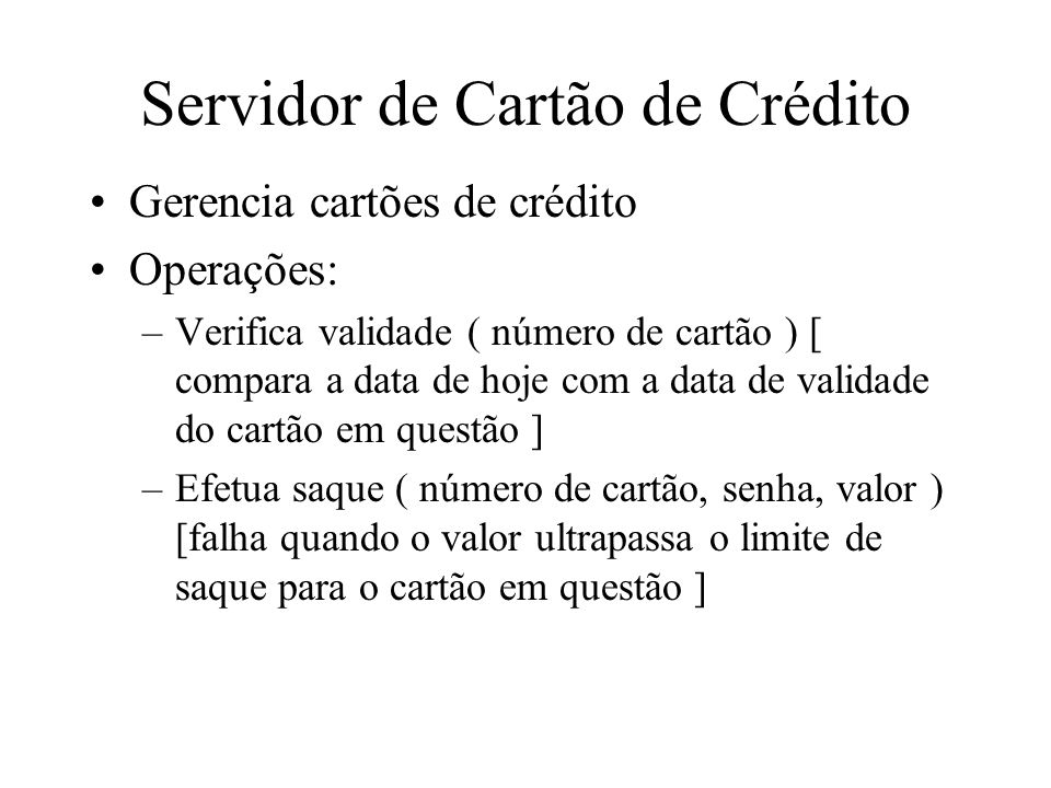 Servidor de Cartão de Crédito