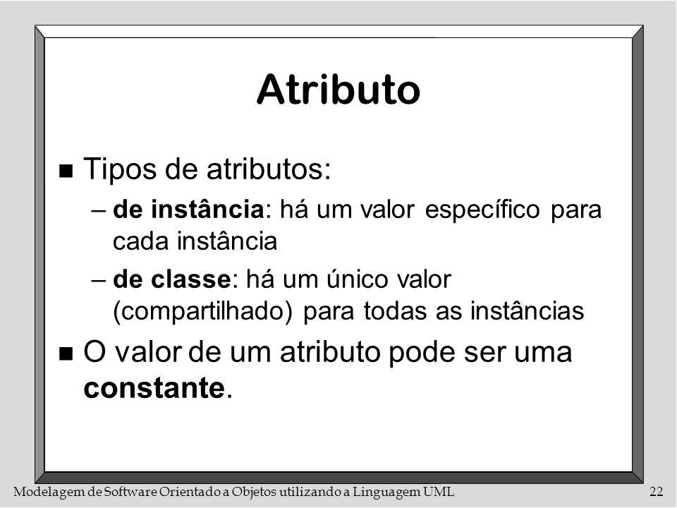 Atributo Tipos de atributos: