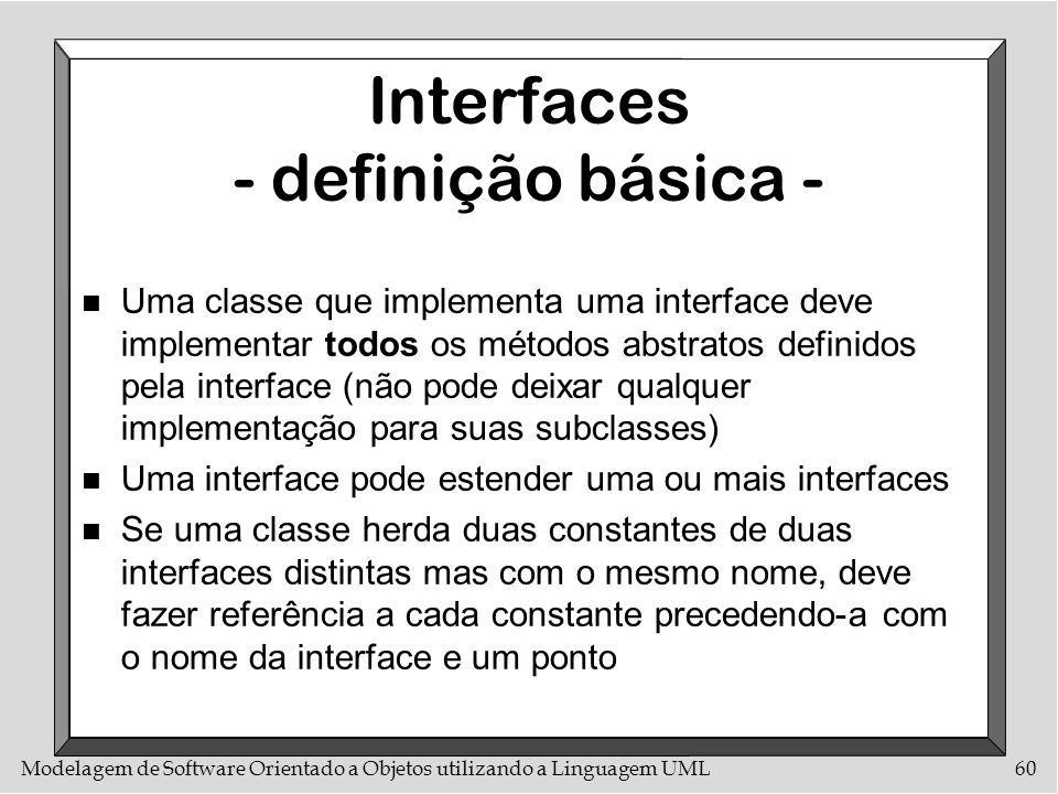 Interfaces - definição básica -
