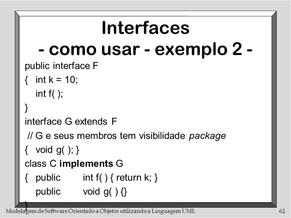 Interfaces - como usar - exemplo 2 -
