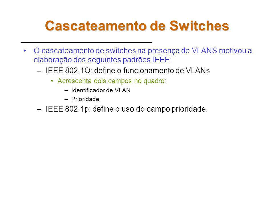 Cascateamento de Switches
