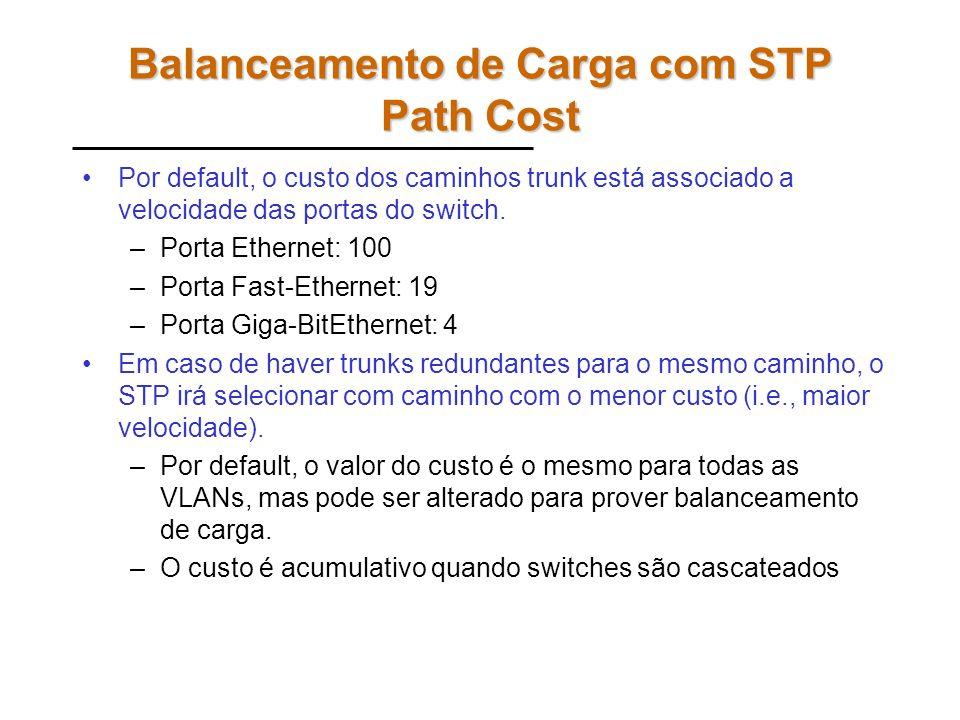 Balanceamento de Carga com STP Path Cost