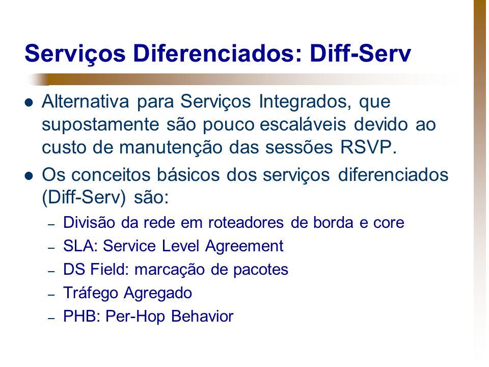 Serviços Diferenciados: Diff-Serv