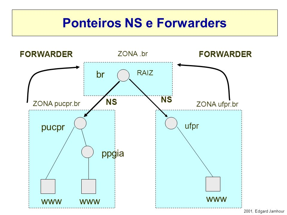 Ponteiros NS e Forwarders