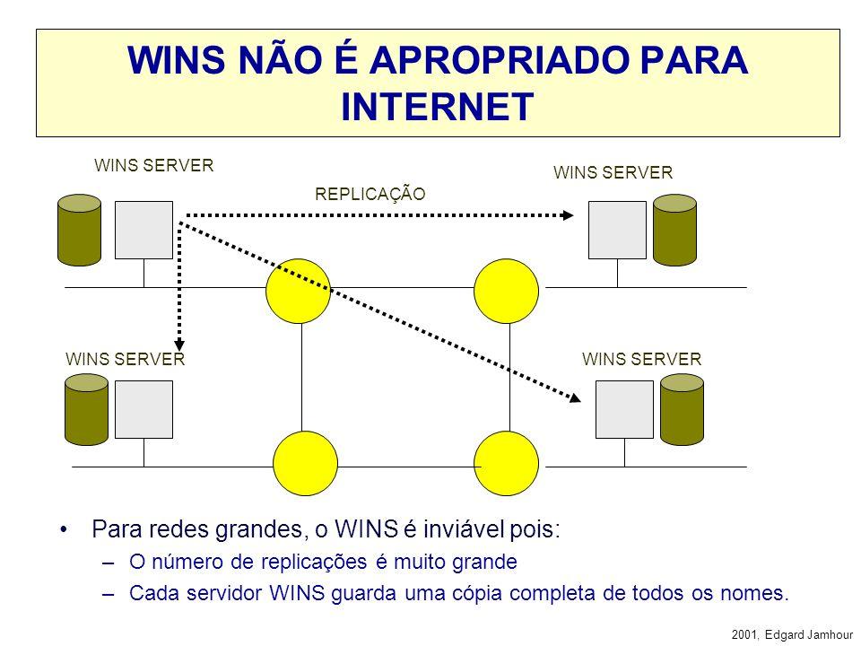WINS NÃO É APROPRIADO PARA INTERNET