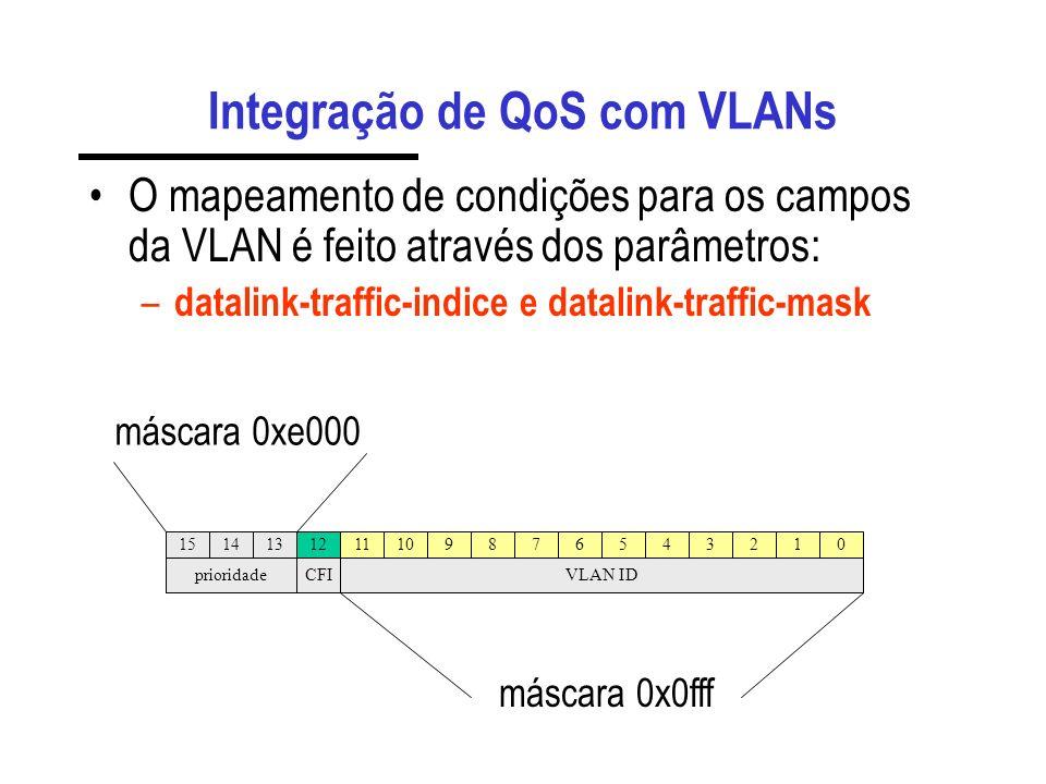 Integração de QoS com VLANs