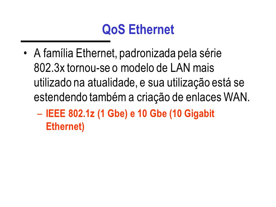 QoS Ethernet