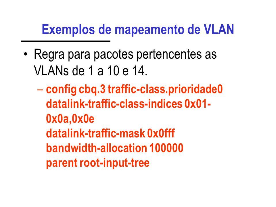 Exemplos de mapeamento de VLAN