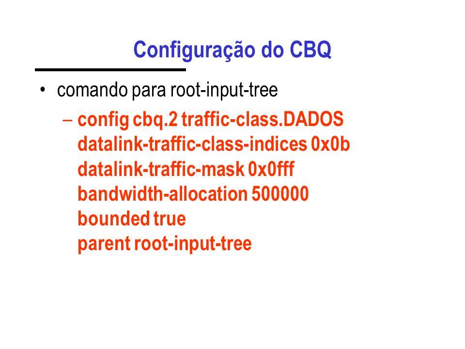 Configuração do CBQ comando para root-input-tree