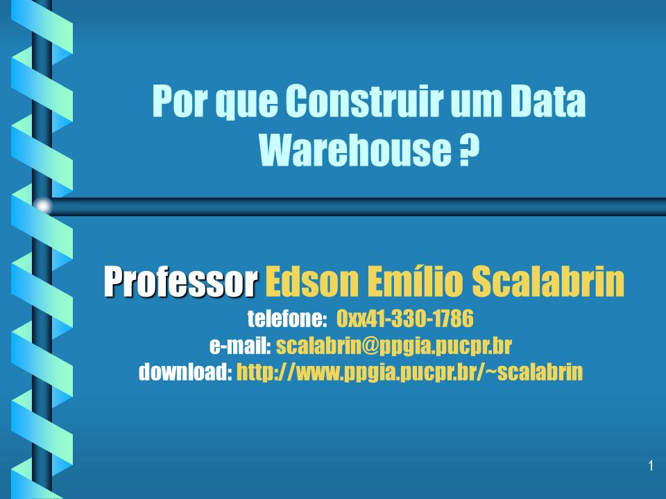 Por que Construir um Data Warehouse