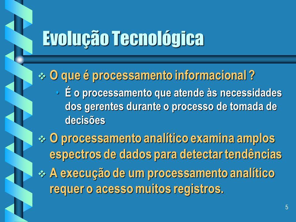 Evolução Tecnológica O que é processamento informacional