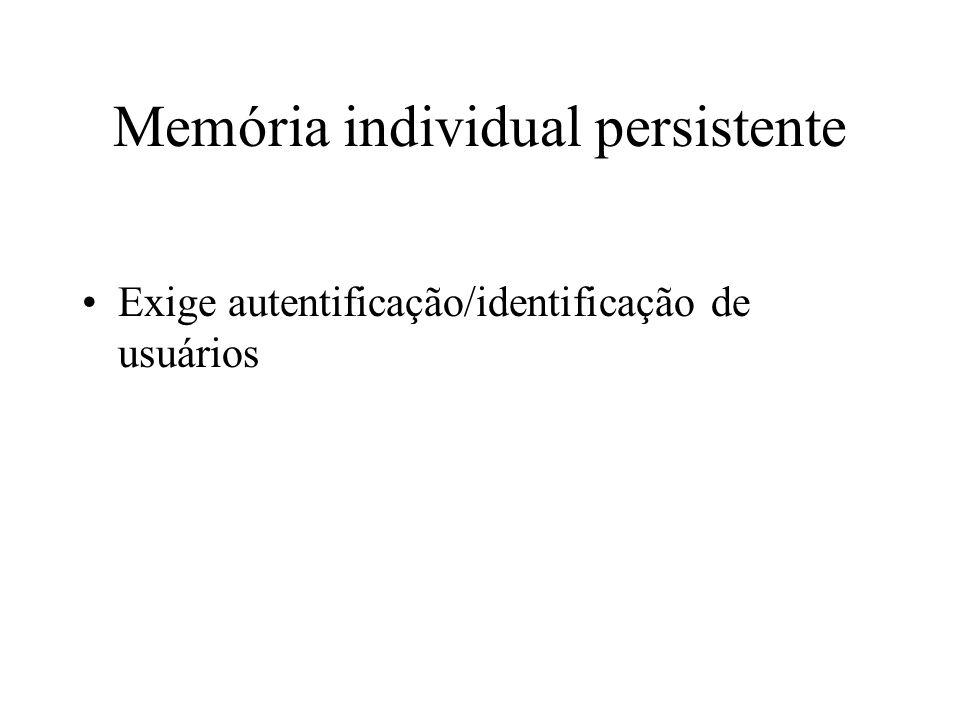 Memória individual persistente