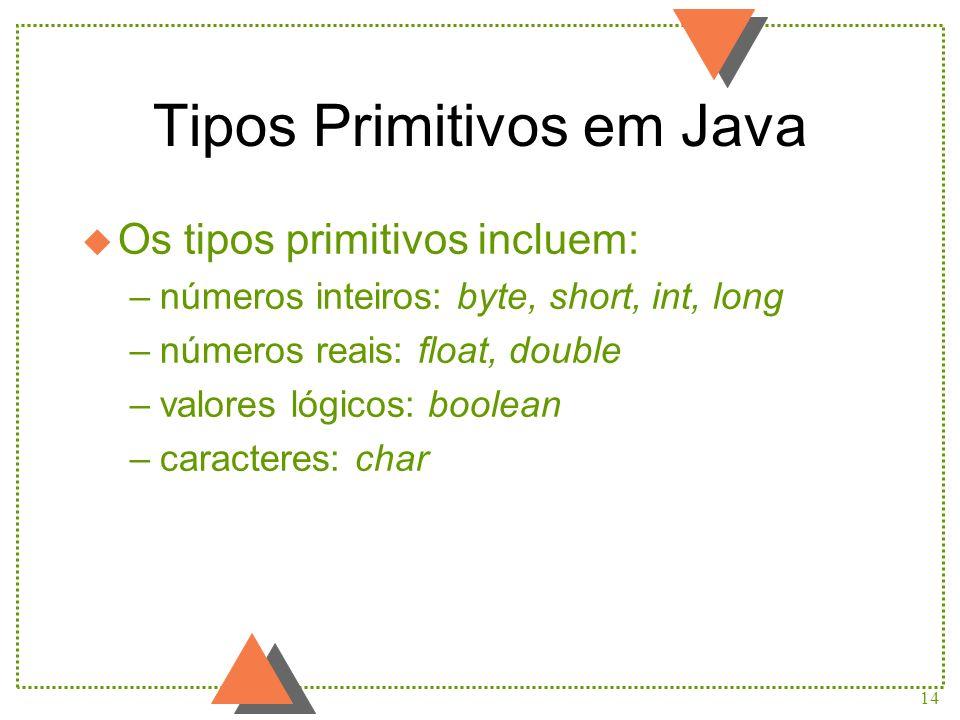 Tipos Primitivos em Java