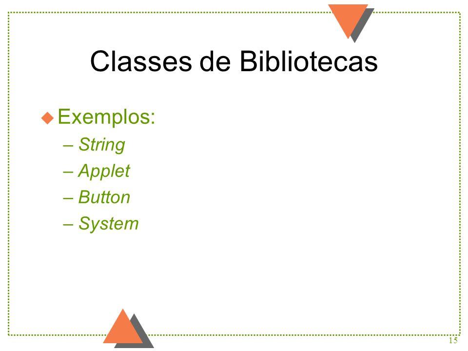 Classes de Bibliotecas