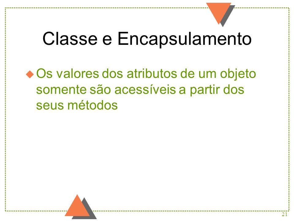 Classe e Encapsulamento