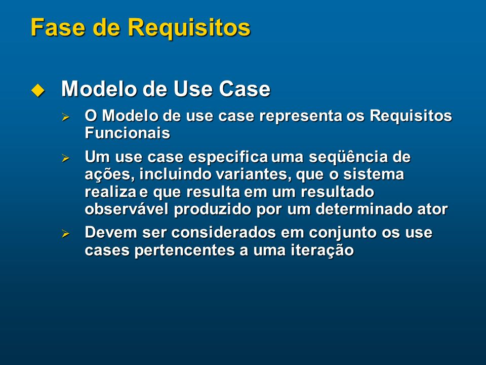 Fase de Requisitos Modelo de Use Case