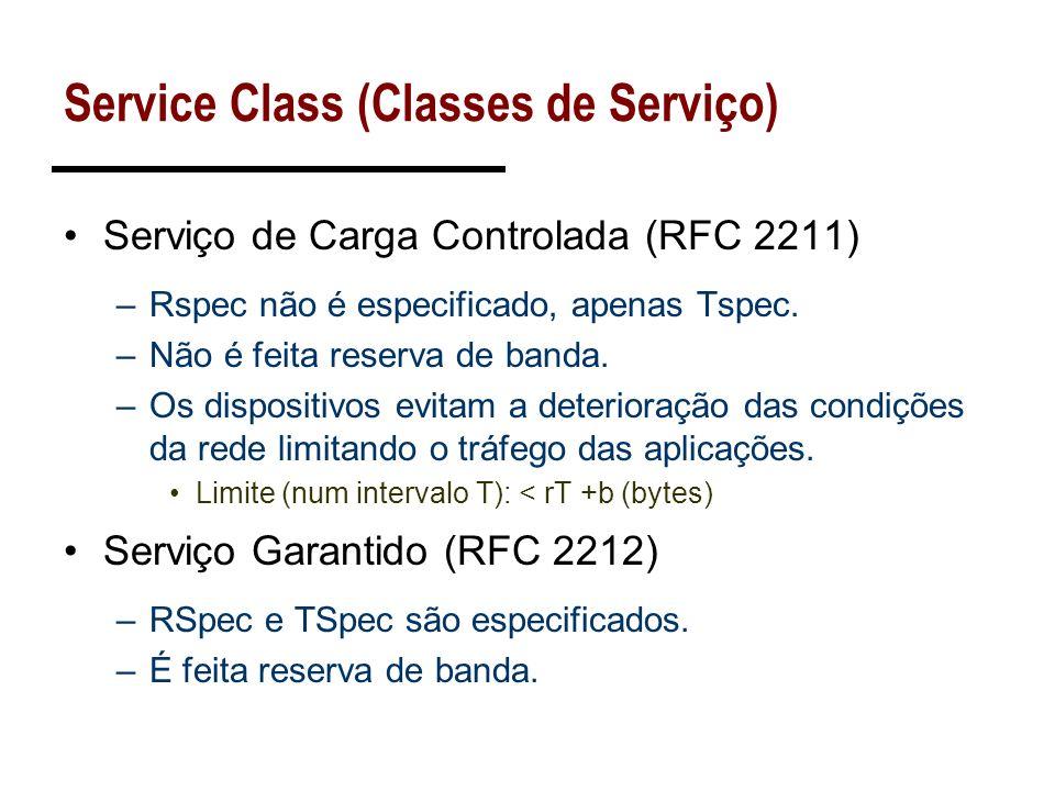 Service Class (Classes de Serviço)