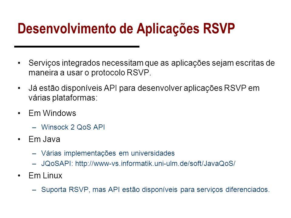 Desenvolvimento de Aplicações RSVP