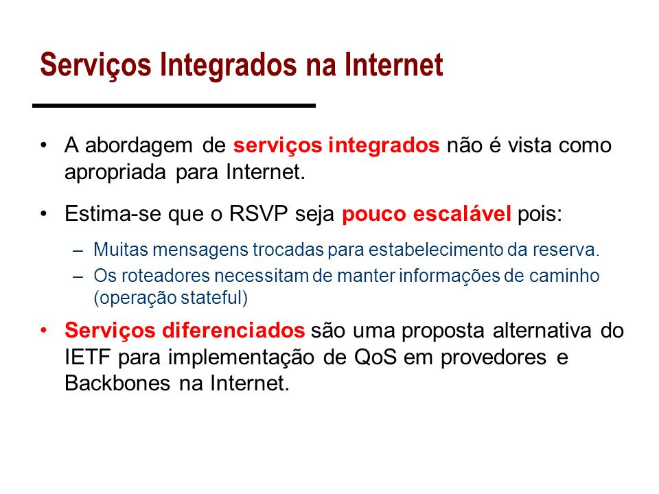 Serviços Integrados na Internet