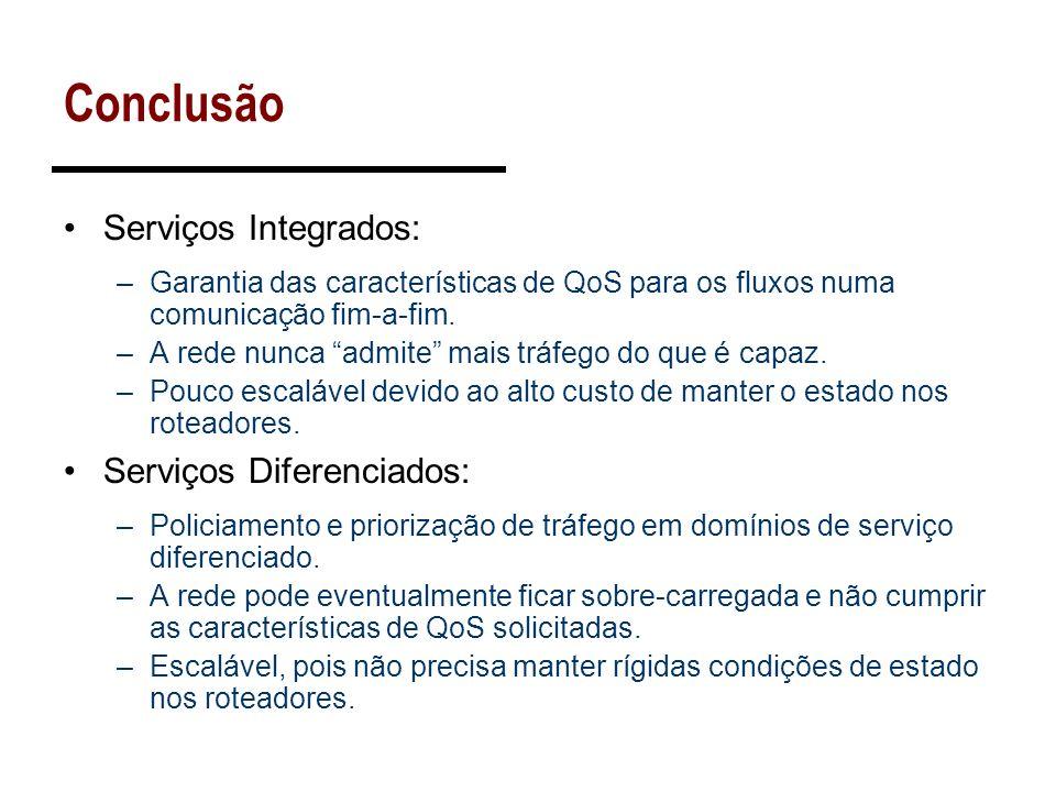 Conclusão Serviços Integrados: Serviços Diferenciados: