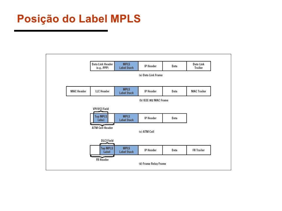 Posição do Label MPLS