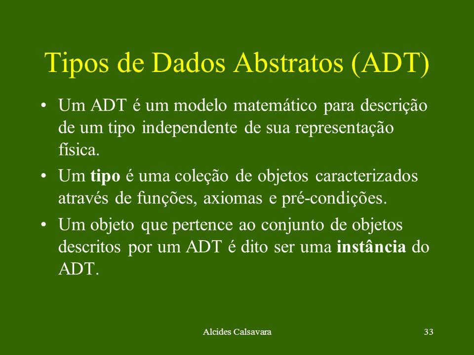 Tipos de Dados Abstratos (ADT)