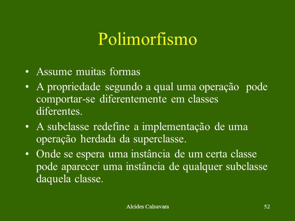 Polimorfismo Assume muitas formas
