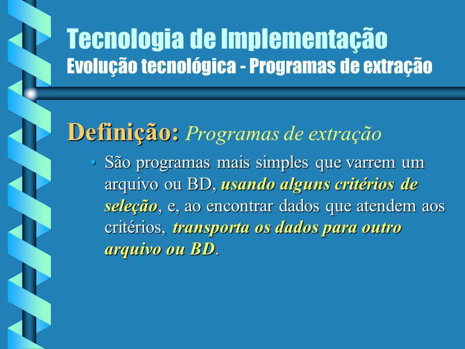 Definição: Programas de extração
