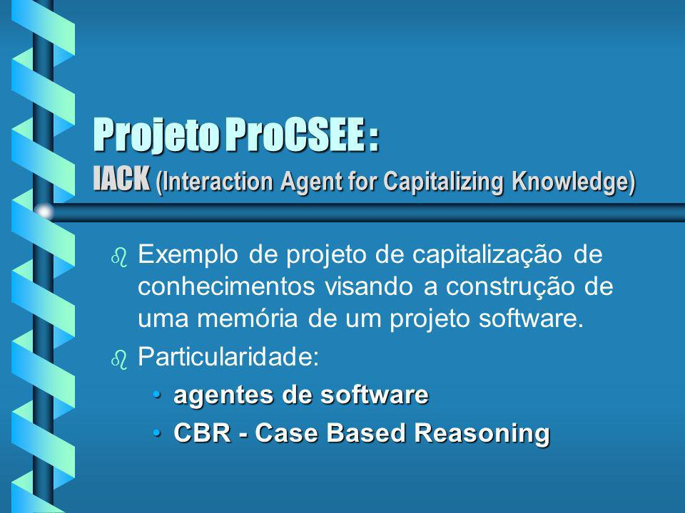 Projeto ProCSEE : IACK (Interaction Agent for Capitalizing Knowledge)